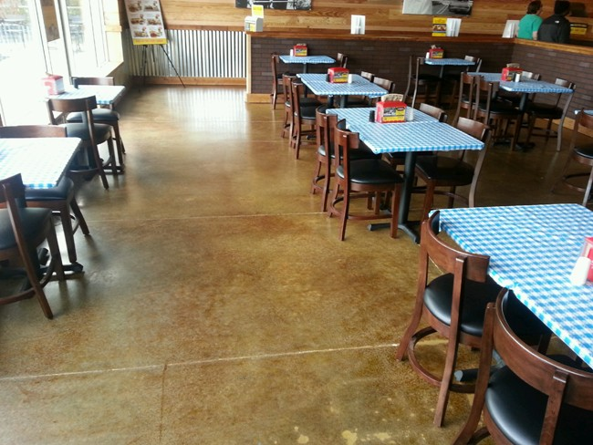 Stained Concrete Flooring Finish
