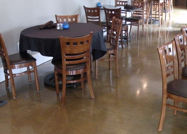 Polished Concrete Floor - Oakbrook Golf & Country Club Restaurant