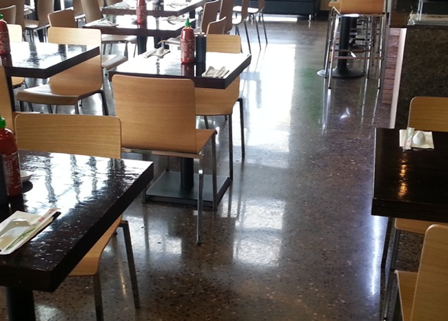 Polished Concrete Pho Hoa Restaurant Floor - Lacey, WA