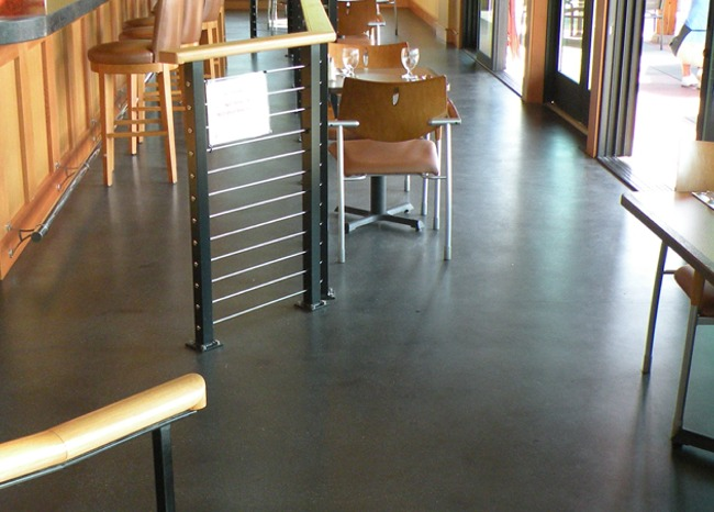 Polished Concrete Floor - Kingston Golf Course Restaurant