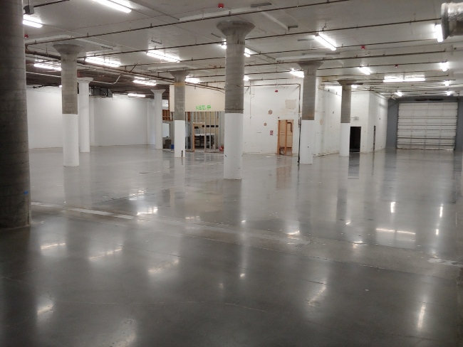 Commercial Polished Concrete Warehouse Floors